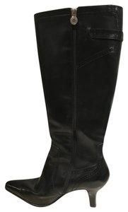 Etienne Aigner Leather Tall Black Boots