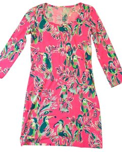 Lilly Pulitzer short dress Toucan Can Reduced Preppy Colorful Spring on Tradesy