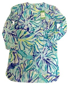 Lilly Pulitzer Preppy Tropical Floral Tunic
