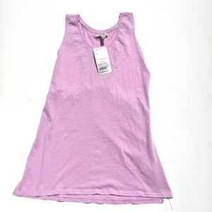 Zara Ribbed Racerback Tshirt Tunic Top Purple