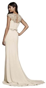 Jenny Packham Cap Sleeved Crepe Sheath Wedding Dress Wedding Dress
