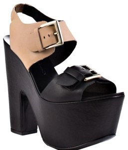 Report Signature Heels Highheels Designer black / nude Platforms
