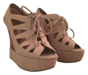 Jeffrey Campbell Suede Nude Wedges