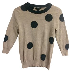J.Crew Polka Dot Black 3/4length Sweater