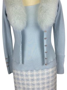 Dana Buchman Fox Fur Sweater Fur Coat