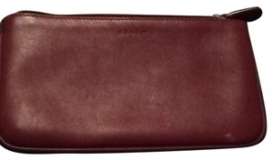 Coach Coach Red Leather Cosmetic bag