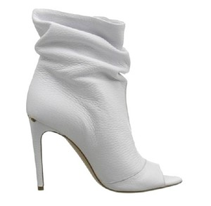 Burberry Heritage Open Toe White Boots
