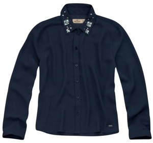 Hollister Button Down Shirt Navy