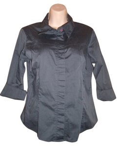 zinc Button Down Shirt Charcoal