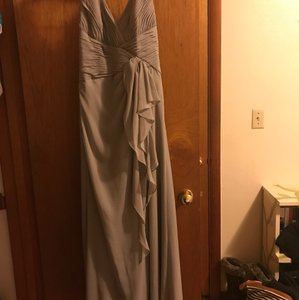 David's Bridal Grey Grey Bridesmaid Dress Dress
