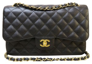 Chanel Caviar Classic Jumbo Double Flap Shoulder Bag