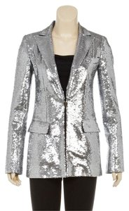 Chanel Silver Womens Jean Jacket