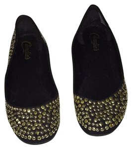 Candie's black and gold Flats
