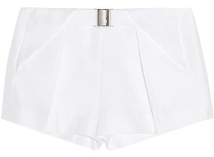 L'AGENCE Draped Pleated Cupro Made In Usa Mini/Short Shorts
