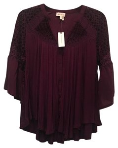 Anthropologie Button Down Shirt Plum