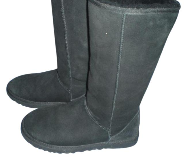 Item - Black Tall Boots/Booties Size US 7 Wide (C, D)