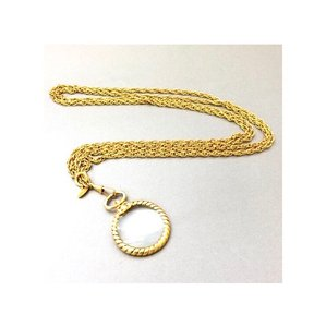 Chanel Rare Vintage Magnifying Glass Pendant Necklace