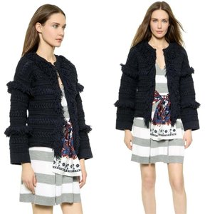 Thakoon Fringed Nay Jacket Cardigan