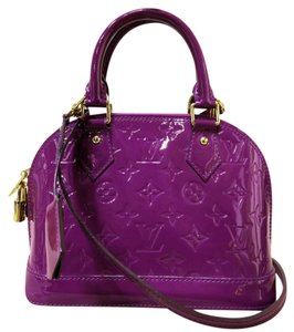Louis Vuitton Lv Vernis Alma Bb Satchel in purple