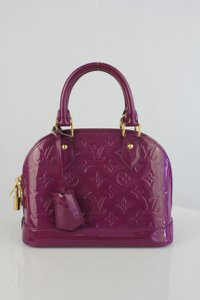 Louis Vuitton Lv Vernis Alma Bb Satchel in Amethyste