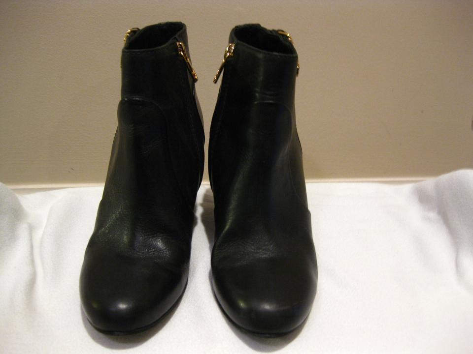 41675b0d389 Tory Burch Black Milan Leather Wedge Ankle Boots Booties Size US 6 Regular  (M