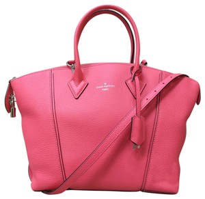Louis Vuitton Lv Soft Lockit Calfskin Pm Satchel in watermelonred