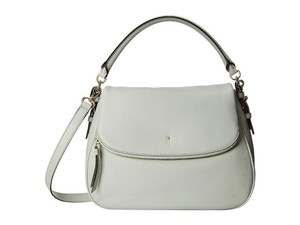 Kate Spade Cobble Hill Devin Pebbled Leather Satchel in Spanish moss