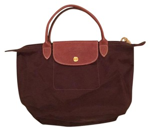 Longchamp Satchel in chocolate brown