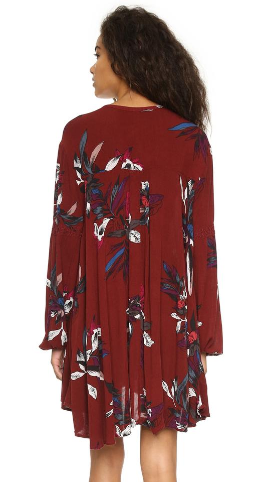 12d9396bb6 Free People Scarlet Combo Electric Orchid Mini Dress Tunic Size 4 (S ...