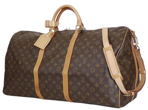 Louis Vuitton Cabin Carry On Duffle Luggage Lv Keepall Brown Travel Bag