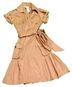 Diane von Furstenberg short dress Tan Safari Khaki Barneys New York on Tradesy