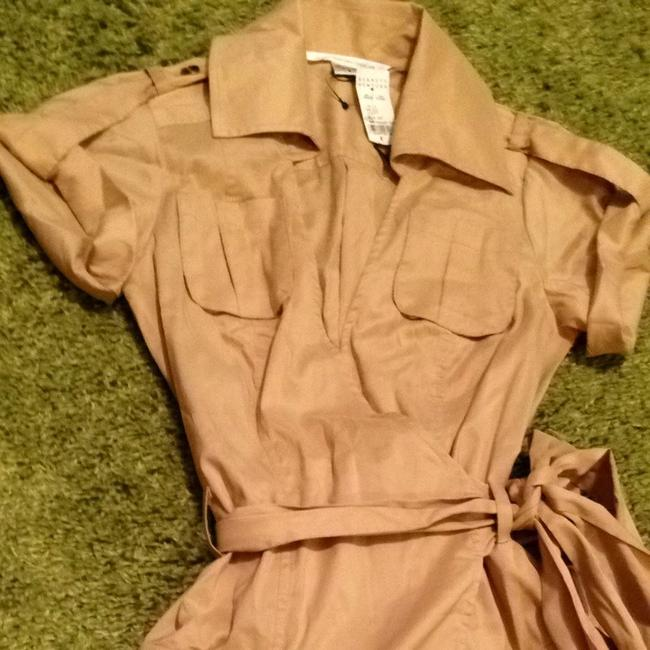 Diane von Furstenberg short dress Tan Safari Khaki Barneys New York Dvf Wrap on Tradesy