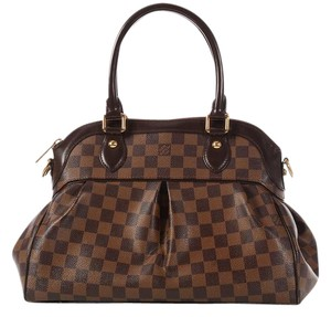 Louis Vuitton Trevi Pm Lv.l0110.01 Canvas Leather Checkered Satchel
