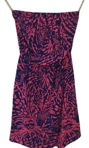 Lilly Pulitzer short dress Pink/Navy on Tradesy