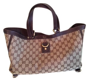 Gucci Tote Dust Cloth Workbag Satchel in Brown GG Logo