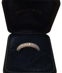 Tiffany & Co. Etoile three-row diamond platinum band ring