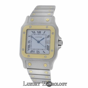 Cartier Mint Men's Unisex Cartier Santos Galbee Automatic 18K Gold Date 29MM