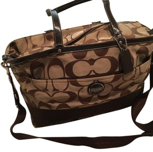 Coach dark brown Diaper Bag