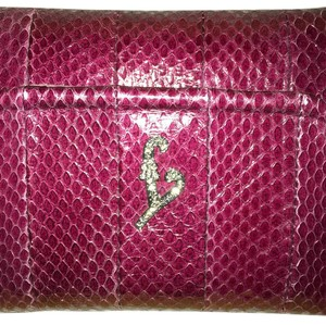 Fendi burgundy Clutch