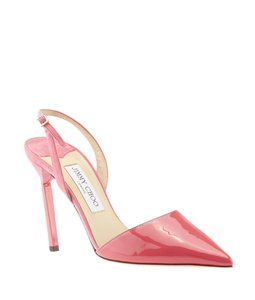 Jimmy Choo Patent Leather Suede Pink Pumps