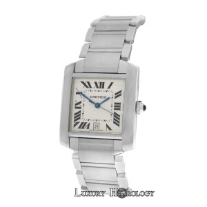 Cartier Authentic Unisex Cartier Tank Francaise 2302 Steel Automatic Date 28MM