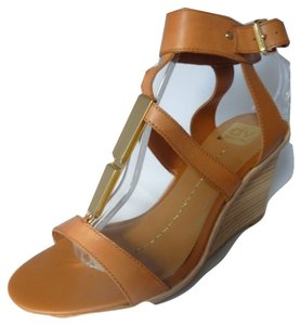 Dolce Vita Leather Ankle Strap Cognac Sandals