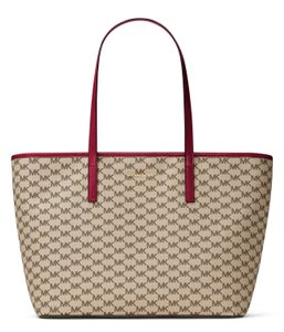 Michael Kors Tote in Cherry Red/ Natural
