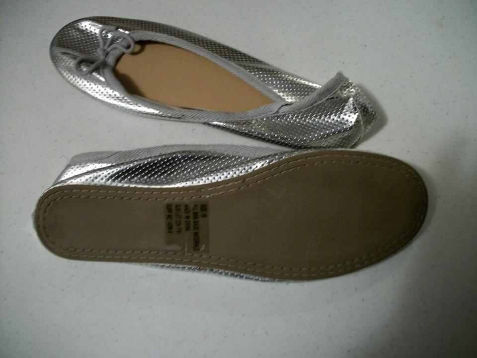 silver ballet style house slippers flats size us 10 regular m b