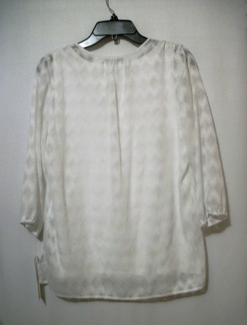 Alfred Dunner Offwhite Size 8 Offwhite Shirt Top Ivory Image 1