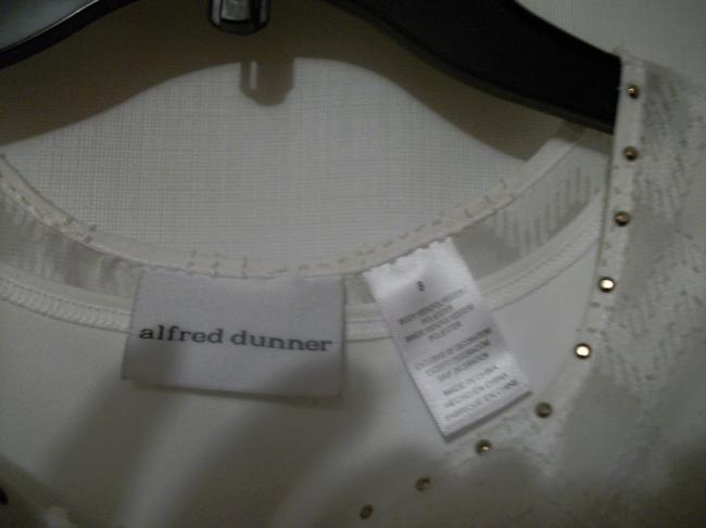 Alfred Dunner Offwhite Size 8 Offwhite Shirt Top Ivory Image 4