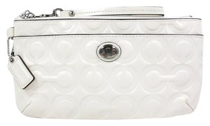 Coach Peyton Patent Leather Wristlet in White