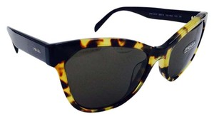 Prada Black and Tortoise Cat Eye Prada Sunglasses SPR 21S-F 7S0-5S2 56