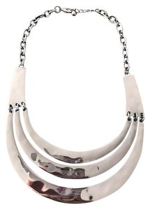 Forever 21 Forever 21 Black Chrome Metallic Statement Necklace