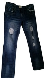 Arden B Straight Leg Jeans-Distressed
